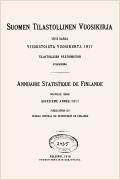 Statistisk årsbok för Finland 1917 (på finska och på franska)