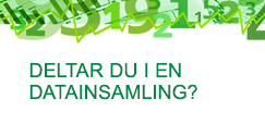 Deltar do i en datainsamling?